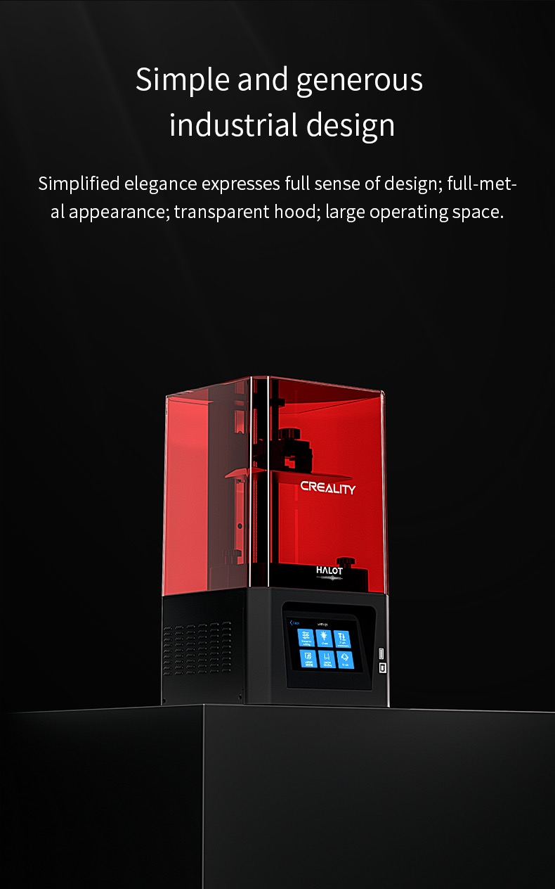 Creality 3D Halot One hos SoluNOiD.dk